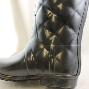 Fantastic Hunter Sandhurst Quilted Wellington Boots In Black  Lyst