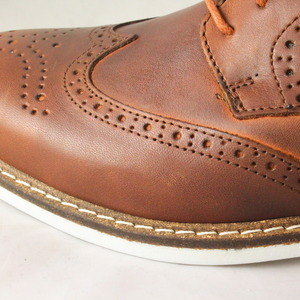 mens ask the missus galaxy brogue brown leather white sole