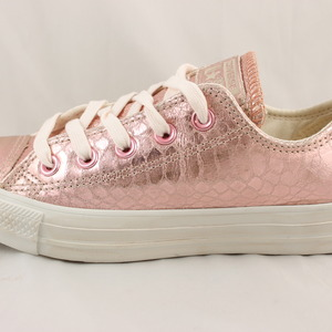 c872d7f83dca converse all star low rose metallic snake leather